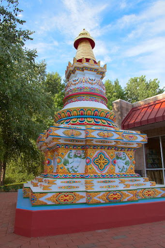 The finished stupa for all to enjoy.