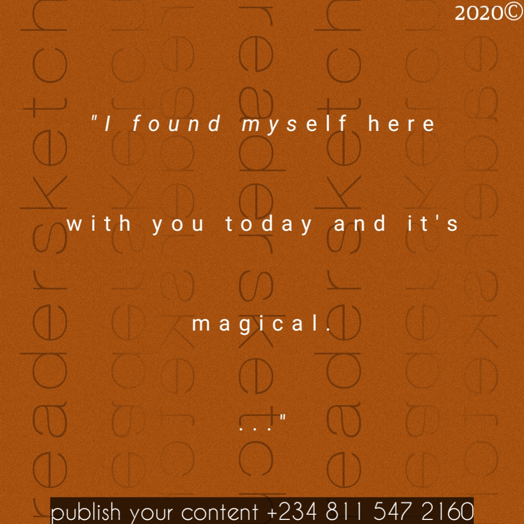 Readersketch, magic, poem