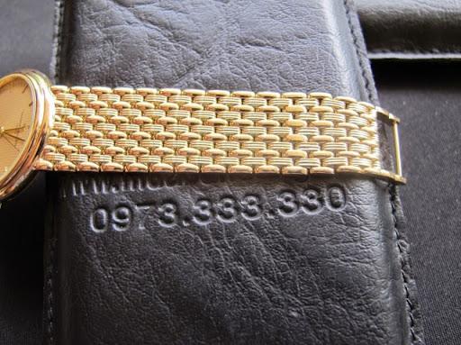 Bán đồng hồ Vacheron constantin – Dây vàng 18k – Xài Pin – Size 33,5mm