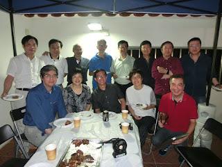 2016年9月24日﹙農曆八月二十四﹚,基社同學在李振強、鍾希潔家天臺燒烤追月
