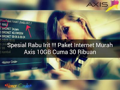 Mengaktifkan Paket Rawit Rabu Irit Kuota 10 GB 30 Ribuan Kartu Axis