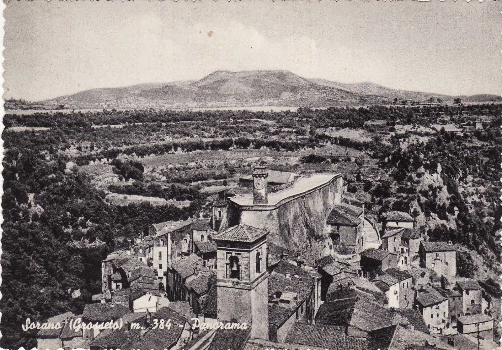 Sorano, carta postale