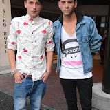 WWW.ENTSIMAGES.COM -   Phil Clifton and Jay Camilleri   at       You're Next - VIP film screening at The Soho Hotel,  London August 13th 2013                                                 Photo Mobis Photos/OIC 0203 174 1069
