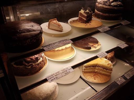Sliced cakes display at China House in Penang
