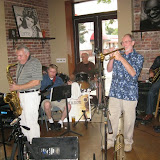 "The August Blue Monday drew a packed house to the Five Sisters Blues Café. Describing their music as ""Jazz with a beat,"", Infusion's repertoire includes a wide variety of music from artists including Steely Dan, the Beatles, Santana, as well as more traditional jazz and blues favorites."