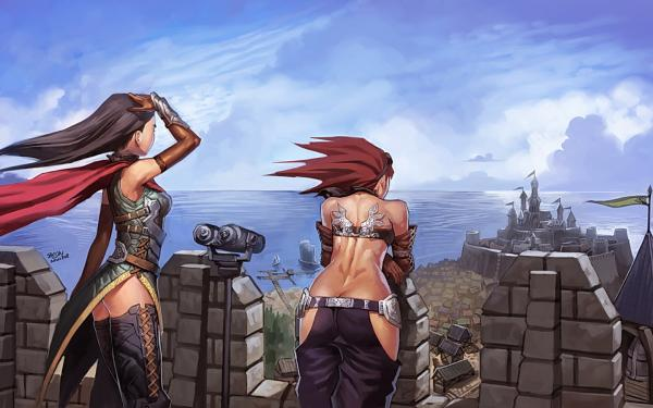 Girls Near The Castle, Magical Landscapes 2