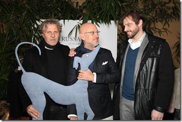 Renzo Rosso, Andrea Panconesi e Tomaso Trussardi