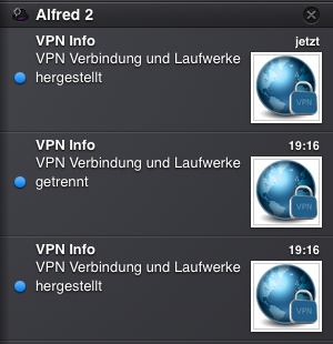 Notification Center von OS X