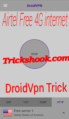 Droidvpn http header setting for airtel free internet