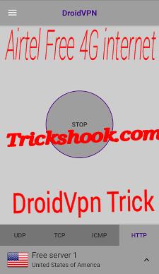 Droidvpn http header setting for airtel free internet