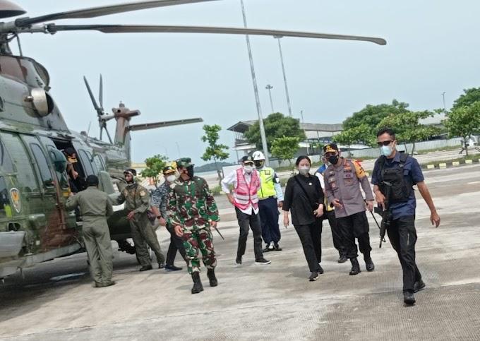 Danrem 043/Gatam Dampingi Pangdam II/Swj, Sambut Panglima TNI dan Kapolri di Bakauheni
