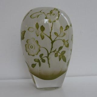 Kosta Boda Olle Brozen Floral Vase
