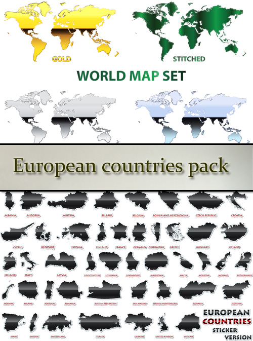 Stock: European countries pack