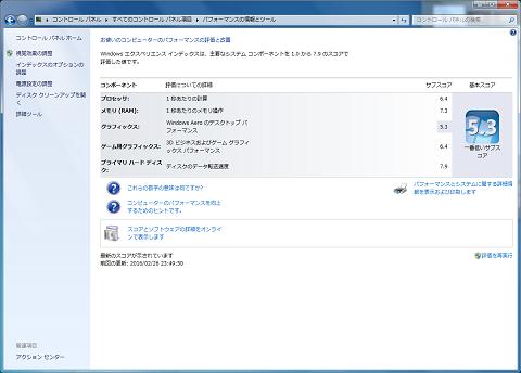 ASRock N3700-ITX エクスペリエンス・インデックス