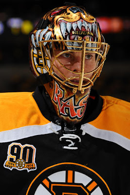 Tuukka Rask during warm ups