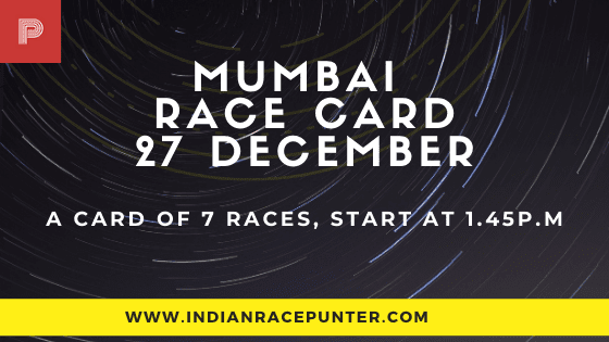 Mumbai Race Card 27 December