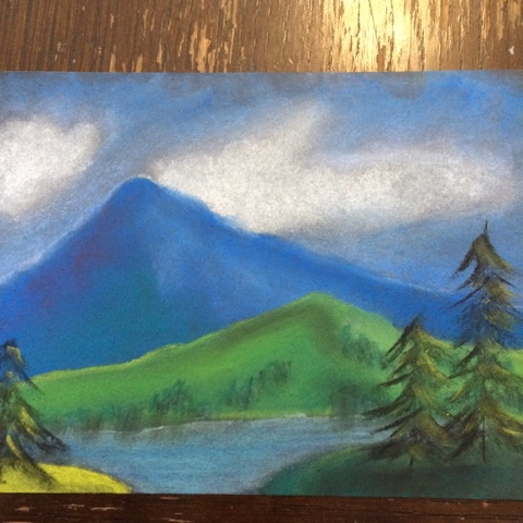 Pastel projects from our classical homeschool, working with tutorials from Creating a Masterpiece.