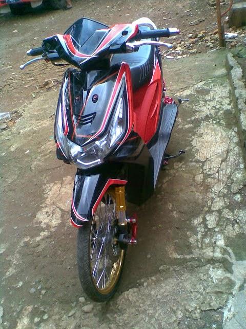 Modifikasi Honda Beat Warna Hijau