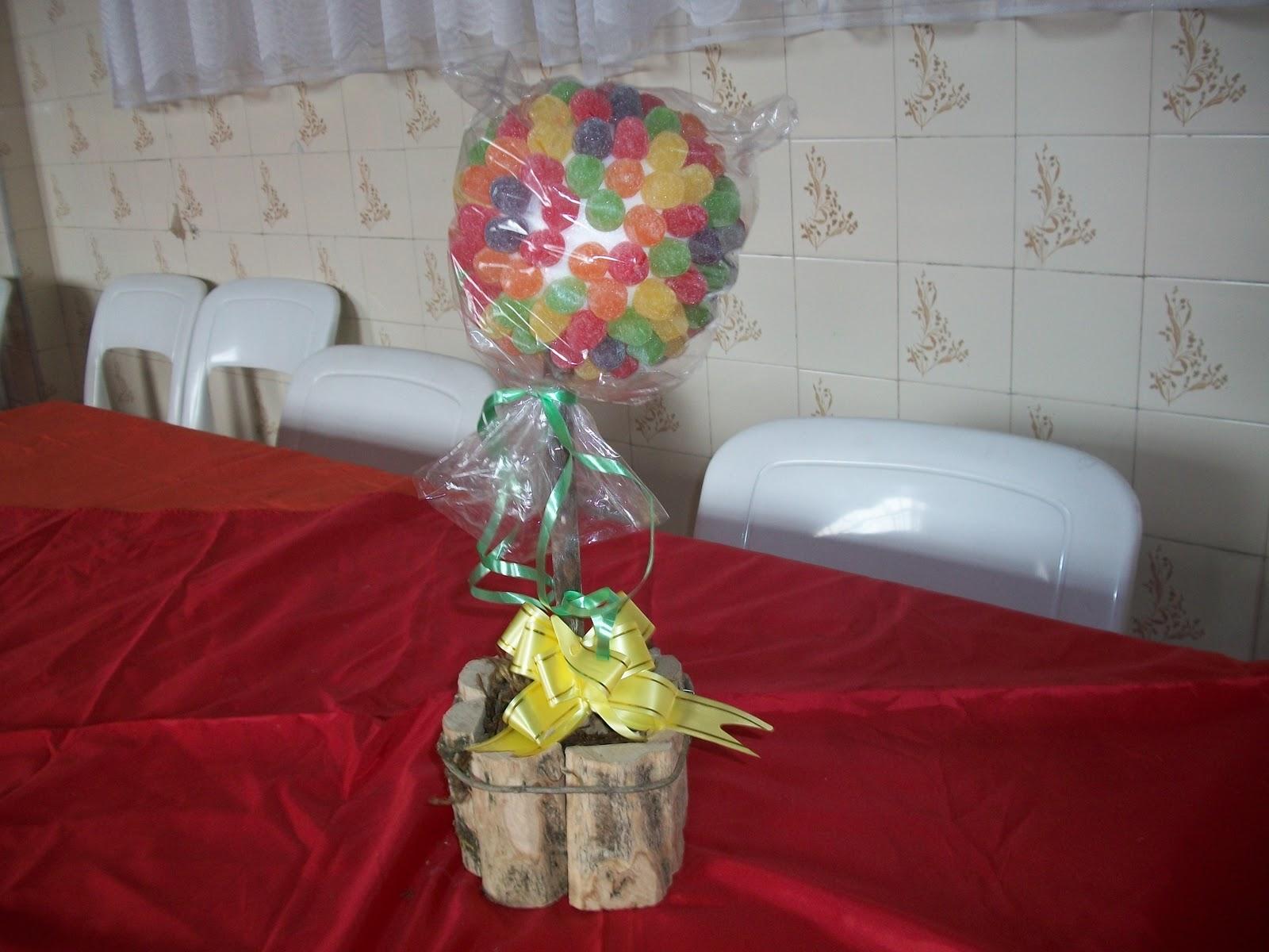 Enfeite De Jujuba ~ Carol' Artes Decorações e Lembrancinhas para sua festa Enfeite de mesa Árvore de Jujuba