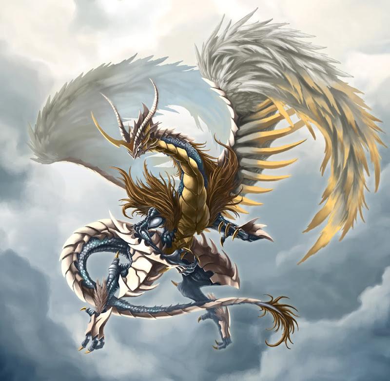Light Dragon By Pamansazz, Dragons