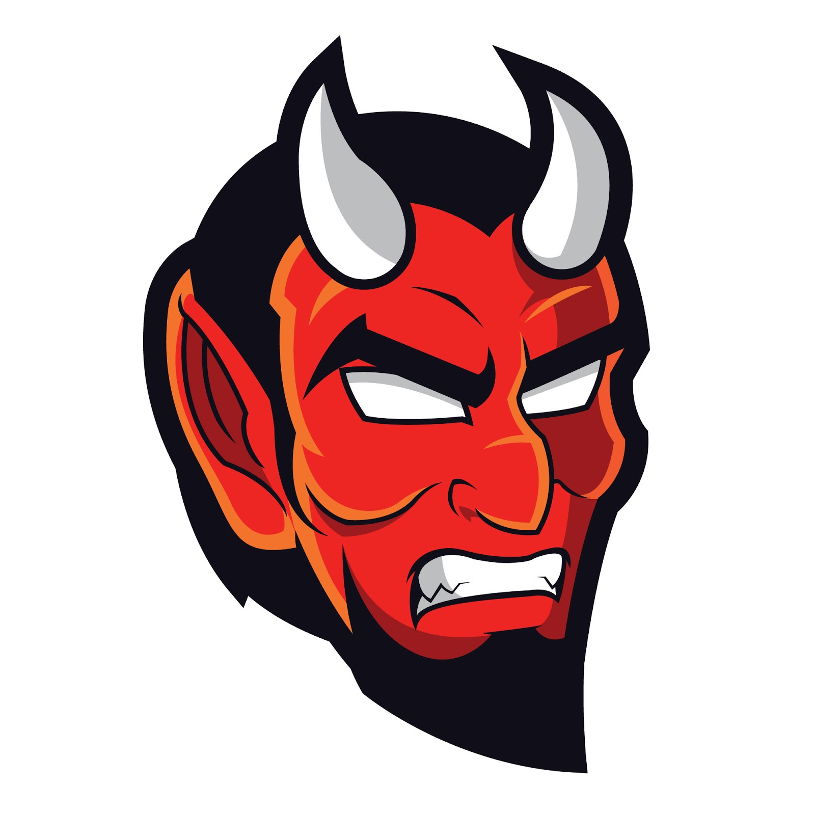 Devil Mascot Logo Free Download Vector CDR, AI, EPS and PNG Formats