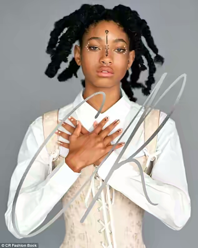Willow Smith puts up artistic expressions as she does a fashion editorial shoot for CR Fashion Book