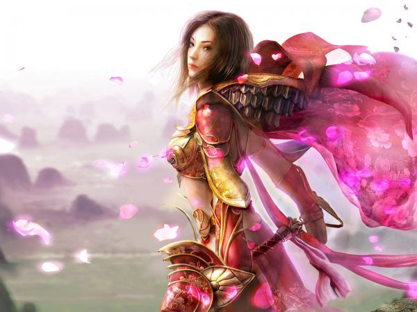 Girl Warrior In Pink, Fairies 3