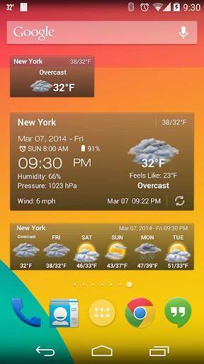 Weather & Clock Widget Ad Free