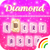 Pink Diamond Keyboard Theme - Emoji&Gif