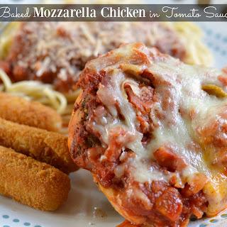 Baked Mozzarella Chicken in Tomato Sauce