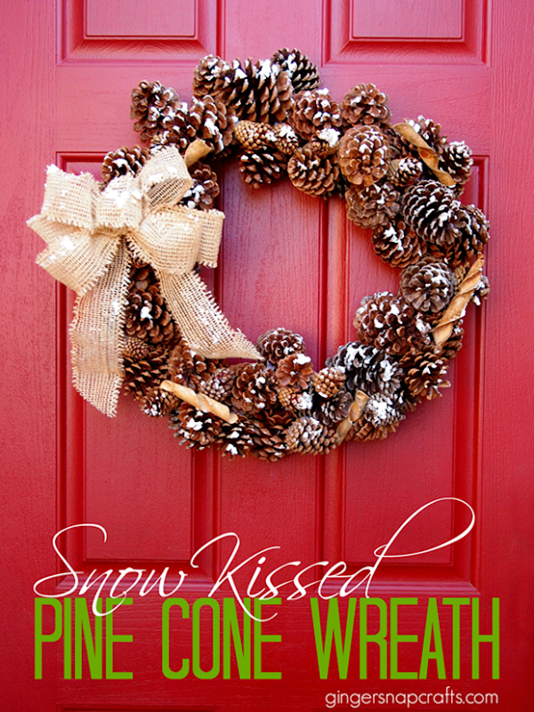 Snow Kissed Pine Cone Wreath with DecoArt Snow-Tex_thumb
