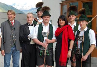 Photo: Bürgermeister Hermann Kaufmann und LH Gabi Burgstaller beim Empfang