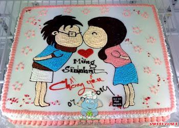 Bánh kem sinh nhật dễ thương nhất 2017 dành cho các cặp đôi yêu nhau