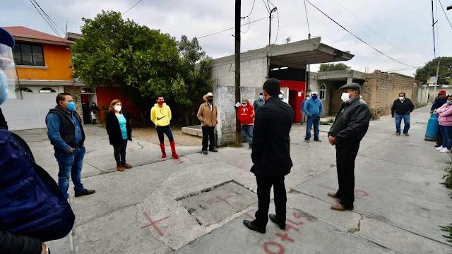 Rehabilitan drenaje sanitario en Xalcaltzinco, Tepeyanco