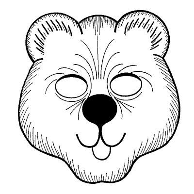 oso 3mascara de animales  para colorar (6)_thumb