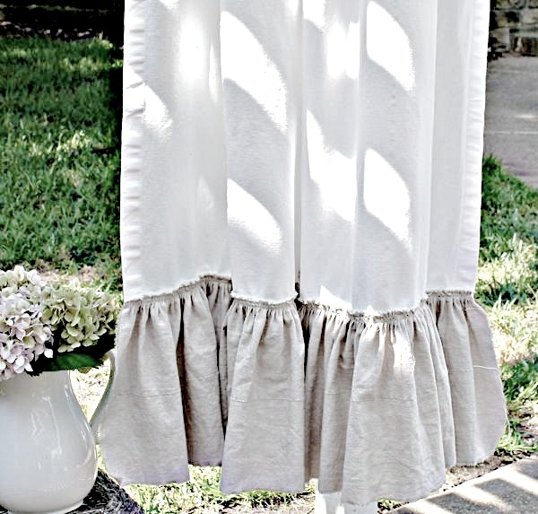 Easy & Inexpensive Ruffle Curtains