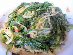 Accanto: capellini with samphire, garlic, chili, and fennel seed