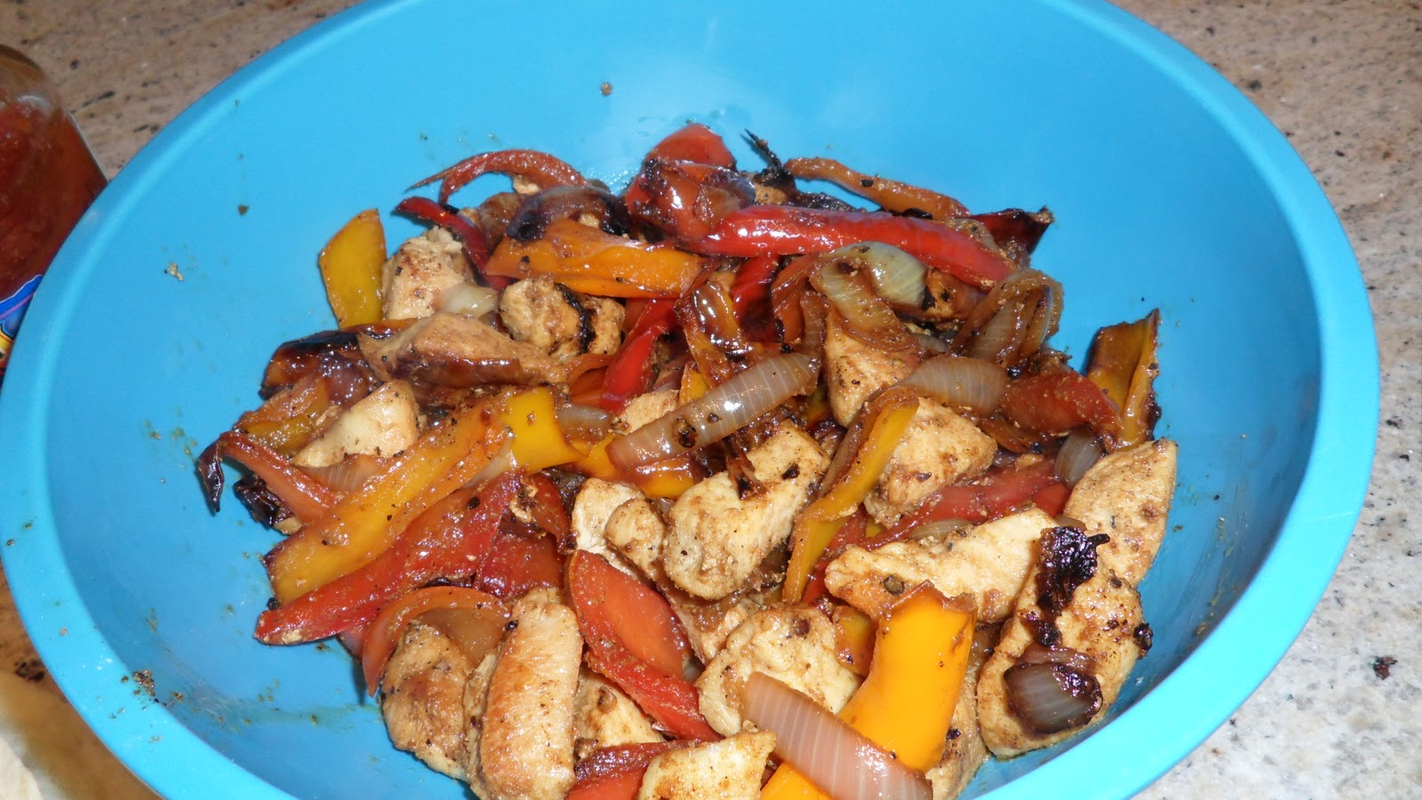 Random acts of food sizzling chicken fajitas there are plenty of fajita recipes that you can find online but i like this one from paula deen on food network it is straight forward and to the point forumfinder Image collections