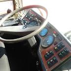 het dashboard van de mercedes 0303 van  Hummelinckstuurman