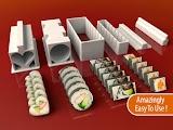 3D Printed Sushi Set
