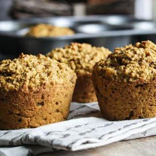 Pumpkin-Spiced Oatmeal Muffins.