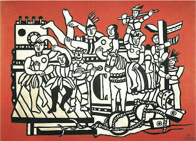Fernand Léger - La grande parade sur fond rouge (1953)
