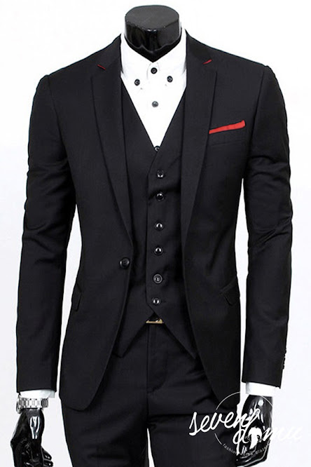seven domu blazer+single+button+with+red+list+bk03 5