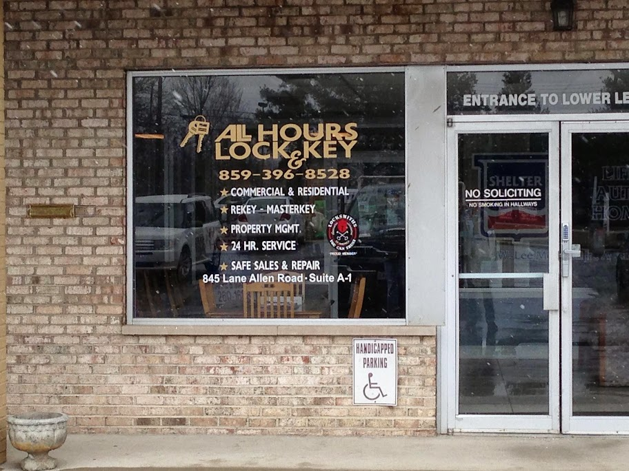 Locksmith Lexington KY | All Hours Lock & Key at 845 Lane Allen Rd, A1, Lexington, KY