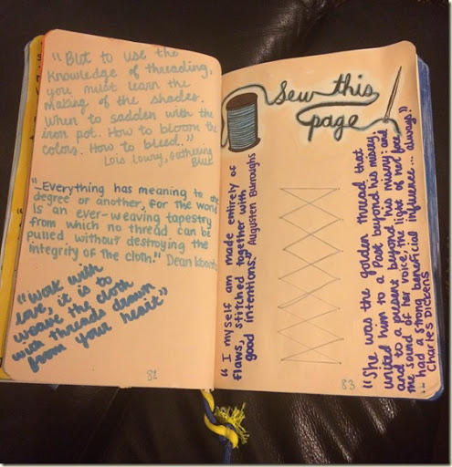 Wreck This Journal: Pages 81-84–Sew, Newspaper   Love ...  Wreck This Journal Sew This Page