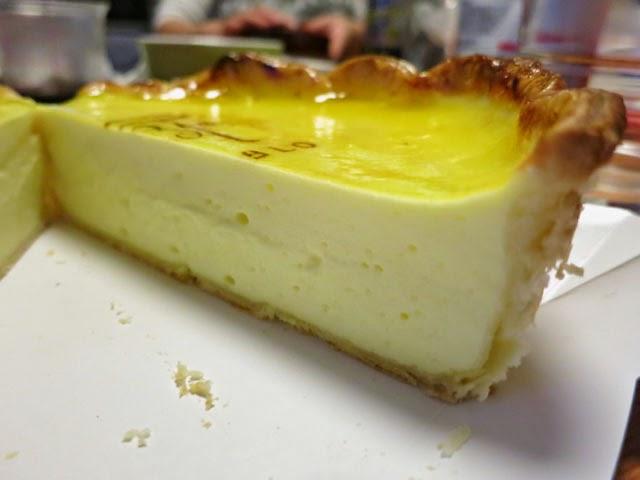 チーズタルトミディアムの断面