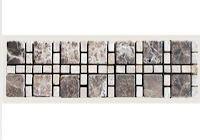 12x3 Cornerless Dark Emperador / Light Emperador 1-1/4x1-1/4 Tumbled Mosaic Border