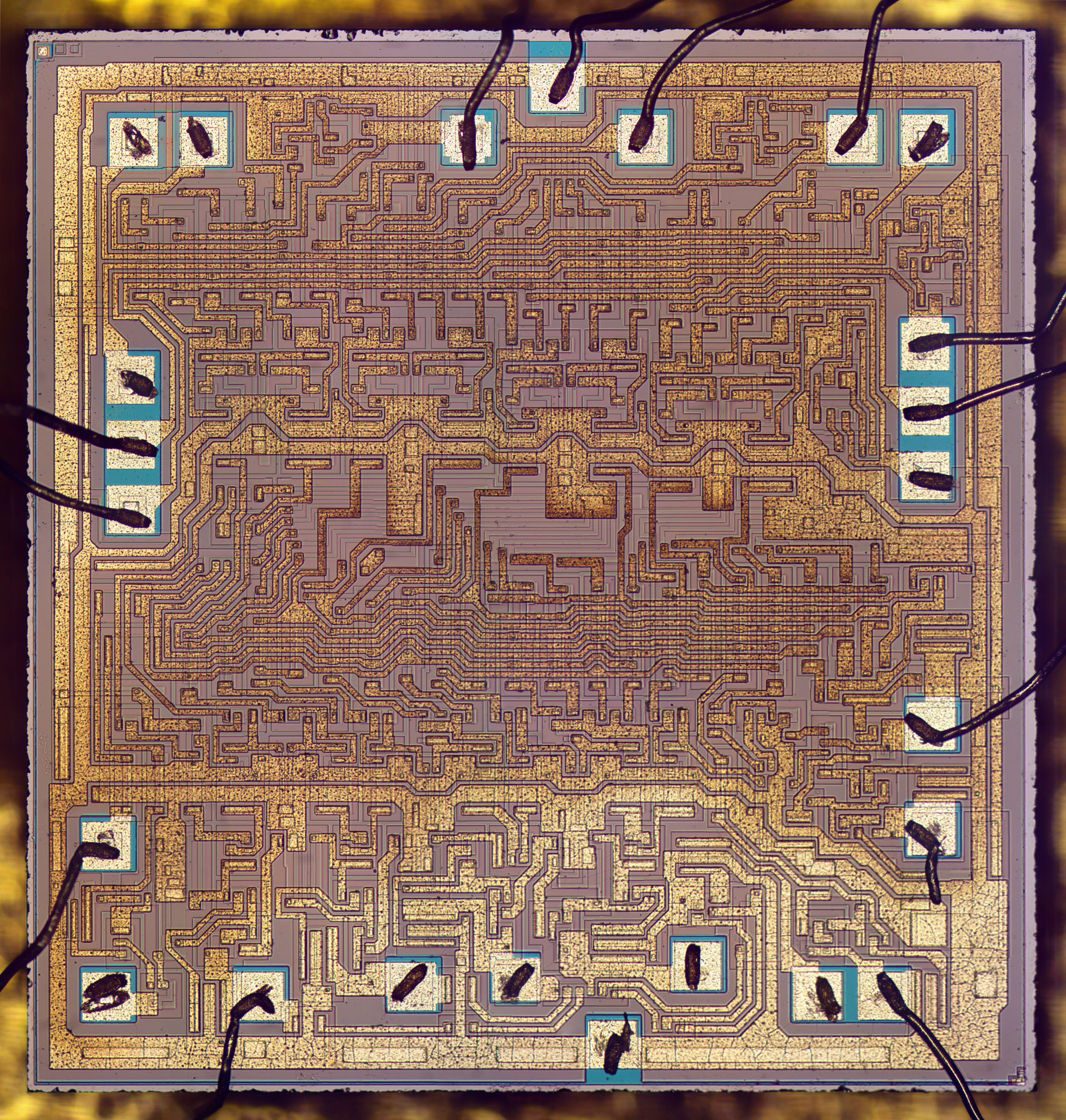 Inside The Vintage 74181 Alu Chip How It Works And Why Its So Strange 1 Bit Logic Diagram Die Photo Of Metal Layer Is Visible