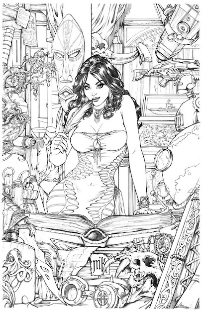 Shahrazad Issue Cover Pencils By Kromespawndeviantart On Deviantart   Coloring For Adultsadult Coloring Pagescolouring