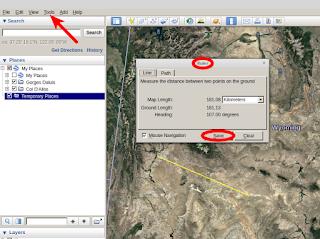 Use of the ruler in Google Earth Pro   Žemėlapiai Žinynas